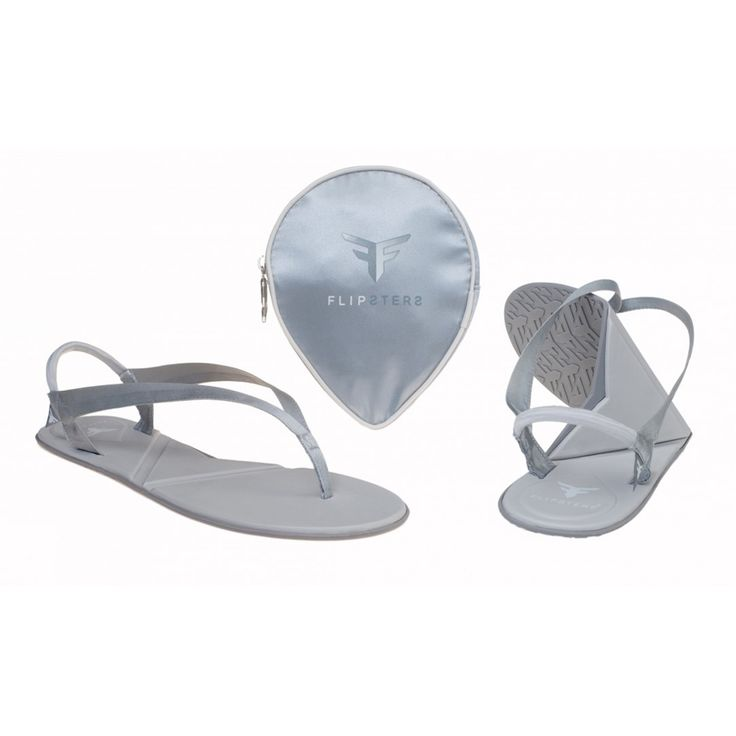 Flipsters Fold-Up Thongs:Platinum Now at $20.00 #foldableshoes #travelshoes