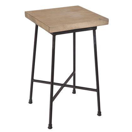 Ken je het klassieke schoolstoeltje? Die met het metalen onderstel en de houten zitting en leuning? Het ontwerp van deze BePureHome College kruk is geïnspireerd op deze vintage topper! Gebruik de kruk als extra zitplaats óf als bijzettafeltje.