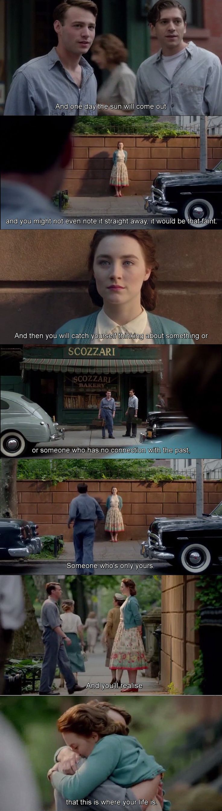 """THE BEST PART. This is when I lose it altogether."" Brooklyn movie 2015"