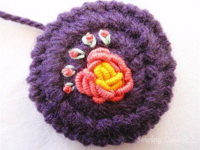 Crochet Flower Button