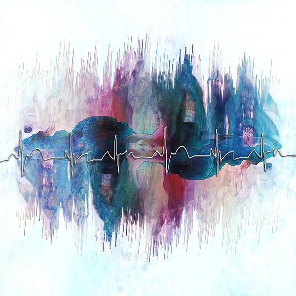#EKG  #watercolor #heartbeat #giftidea #nurse #doctor #fineart #art #totebag #beachtowel #wallart #coffeemug #print #metalart #metal