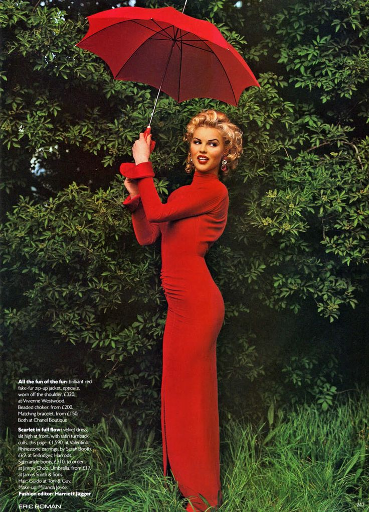 Hot Shots by Eric Boman Vogue UK 1992 Hot Shots Photographer: Eric Boman Model: Eva Herzigova