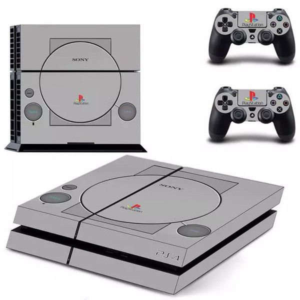 Classic PS One Skin For PS4 System and Controller #SONY