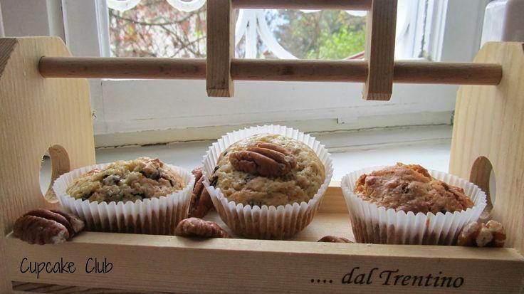 Muffin con noci pecan,sciroppo d'acero e cioccolato | Cupcake Club