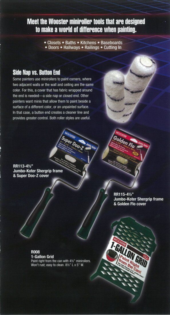 Wooster Brush Rr310 4 1 2 Big Green Roller 2 Pack 4 1 2 Inch Paint Rollers Amazon Com Wooster Brush Paint Roller Wooster