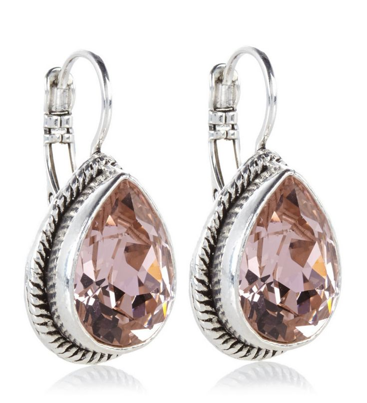 To celebrate Valentine's Day tomorrow I have collected my favorite romantic picks for you: 3. Camp & Camps Teardrop Earrings with Pink Swarovski Crystals