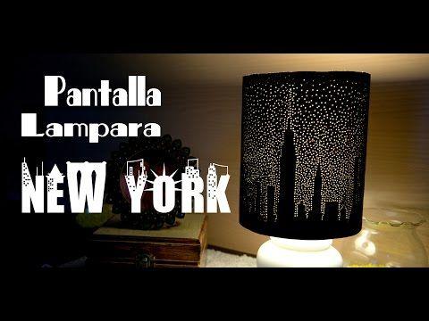Pantalla de Lampara New York Estrellado de Papel Bellisimo y Facil - YouTube