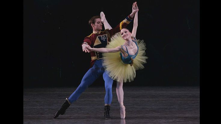 An excerpt from George Balanchine's <em>Stars and Stripes</em>, featuring Daniel Ulbricht and the corps de ballet. Music by John Philip Sousa, orchestrated by Hershy Kay, by arrangement with Boosey & Hawkes, Inc., publisher and copyright owner.