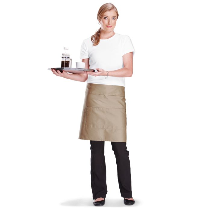 Add your own design to a bar apron.