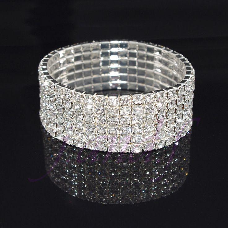 Details about Fashion Elastic Bracelet Crystal Rhinestone