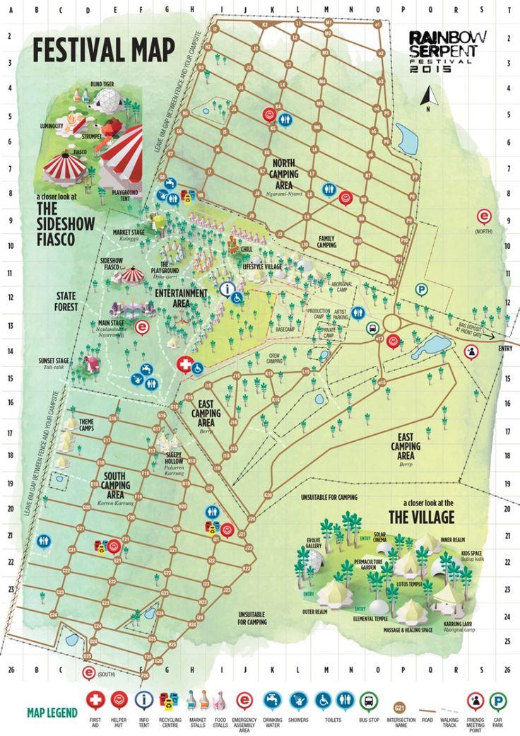 2015 Festival Map | Rainbow Serpent
