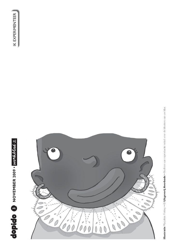 Tekenopdracht - Piet wil eens iets anders dan krulletjes. Kun jij Piet een nieuw kapsel geven?