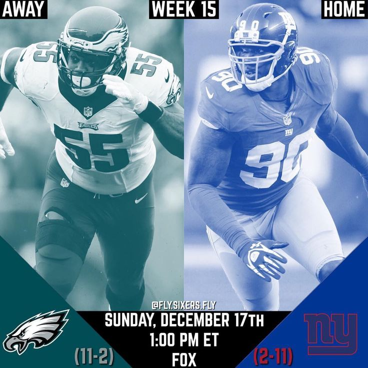 Its Gameday!  The 11-2 Philadelphia Eagles travel to MetLife Stadium to take on the 2-11 New York Giants!  - Sunday December 17th 2017  - 1:00 P.M. ET  - FOX This will be Nick Foles first game starting with us since 2014 and I have a ton of faith in him. I think the Eagles should lean towards a more Passing Offense since some key players on the Giants Secondary arent playing and it would help shake off any rust from Nick Foles. If the Eagles want to win this game we CANT go Conservative on…