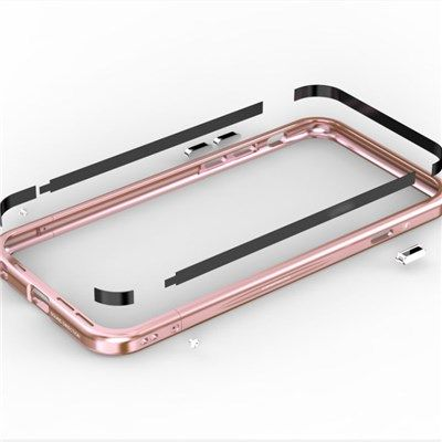 Iphone 6 S Plus Aluminum Frame Tempered Glass Back Cover Lock Button Phone Case #apple #iphone #stocklot #wholesale #wholesalelots