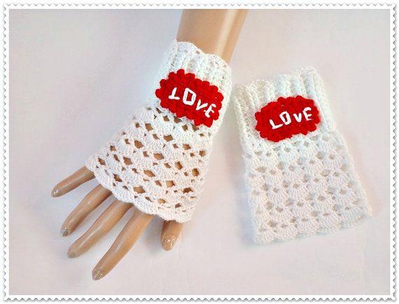 Crochet fingerlles gloves, White lace mittens, White knitted gloves, Women Fashion gloves, Girls mittens, tea gloves lace
