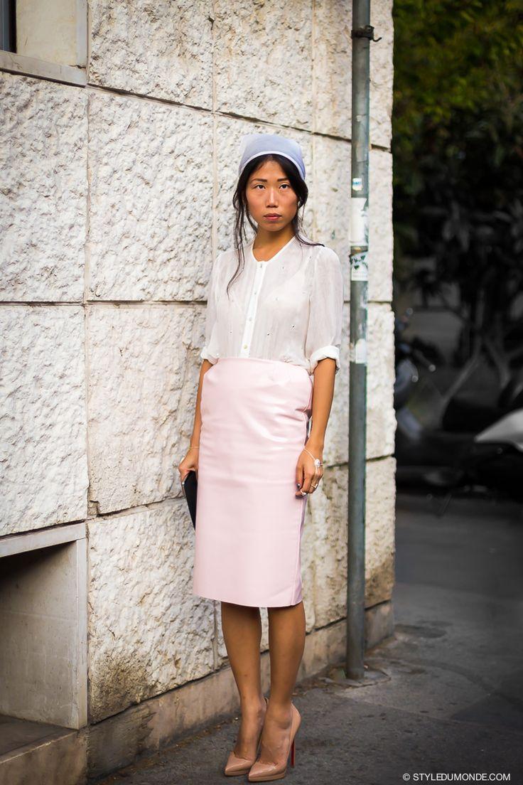 pretty in pink. #OksanaOn in Paris.