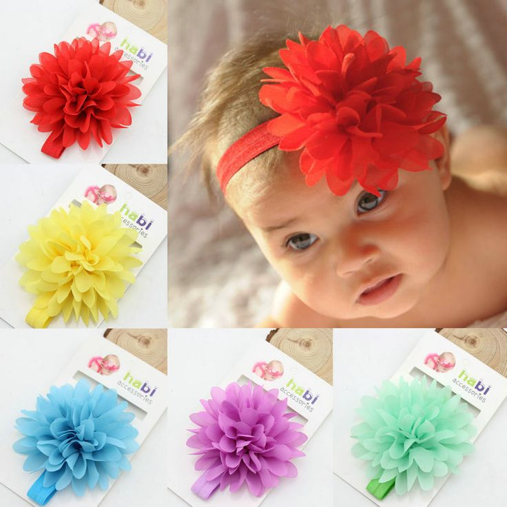 Hot Sale baby girl elastic headband children hair wear for kids head band flower headband baby hair accessories