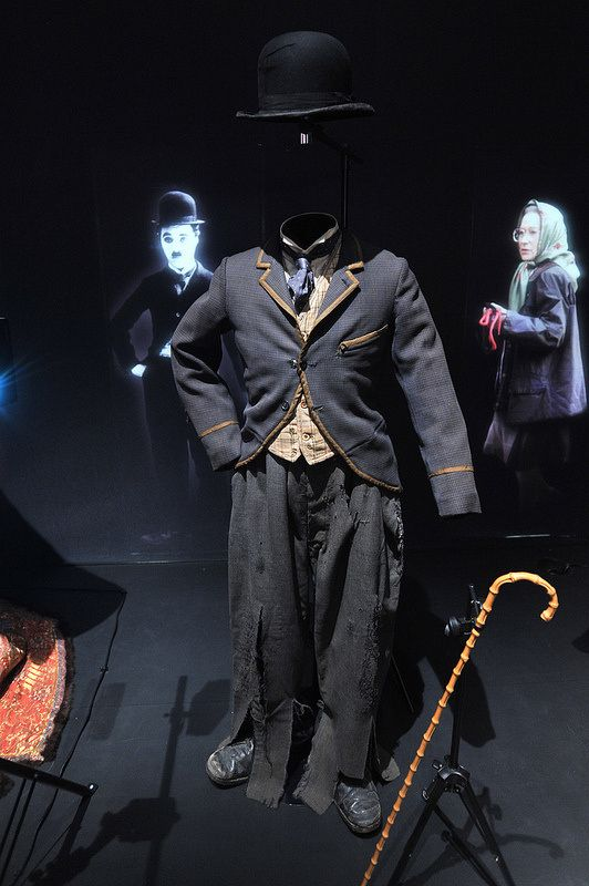 Charlie Chaplin's Little Tramp costume at the V&A museum