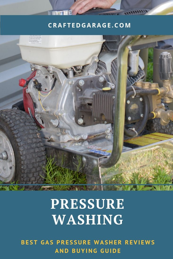 Best gas pressure washer reviews and buying guide via @craftedgarage