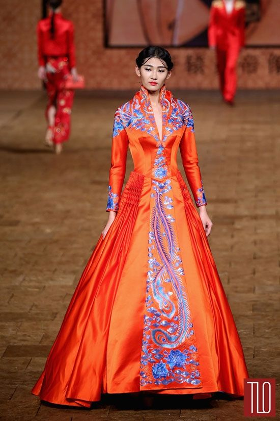 Orange! And Blue!   China Fashion Week Spring 2015: Zhang Zhifeng