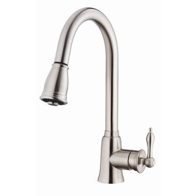 Danze Prince Single Handle Deck Mount Kitchen Faucet Finish: Stainless Steel