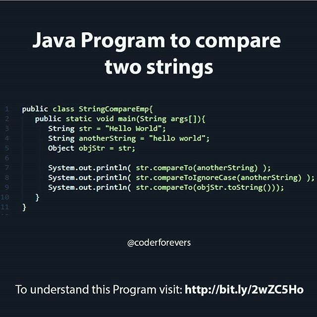 Java Program To Compare Two Strings Dm For Web And App