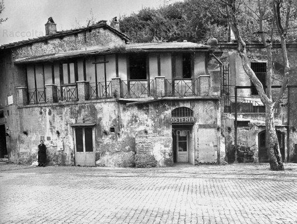 Foto storiche di Roma - Osteria a Testaccio и да, здесь был пулеметчик