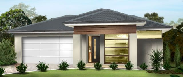 The Vittoria Facade Option 02 - from the Weeks Peacock Homes Alfresco Living Range. This modern family home is uncompromising on space and the attention to detail that allows for easy living.
