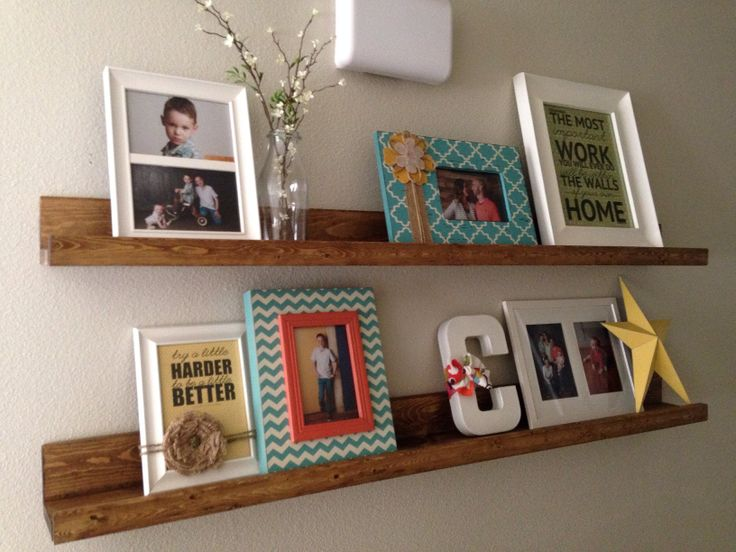 I love how these shelves turned out.....best part is they're so easy and cheap! http://www.shanty-2-chic.com/2013/01/diy-shelves.html