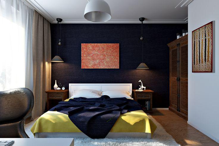 спальня с деревянной стеной - Поиск в Google