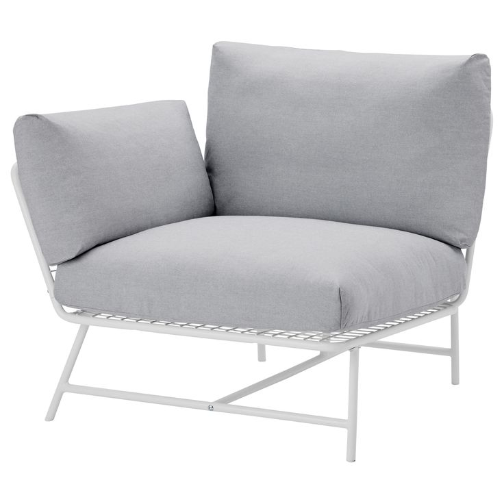 IKEA - IKEA PS 2017, Corner chair with cushions, The anti-slip backing keeps the pads firmly in place.Cushions filled with high resilience foam and polyester fiber give comfortable support for your body, and regain their shape when you get up.The cover is easy to keep clean as it is removable and can be machine washed.
