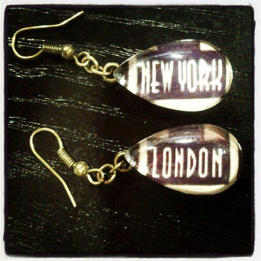 New York / London Teardrop Glass hook by HippieSoulJewelry on Etsy, $8.00