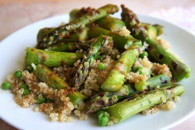 Asparagus, pea and quinoa salad by The Road to Less Cake