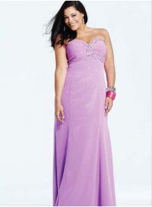 HANA - Evening dresses Plus size Sheath/Column Floor length Chiffon Sweetheart Occasion dress