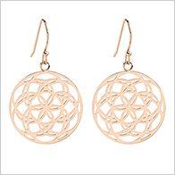 Starlight earrings, 25mm, rose gold