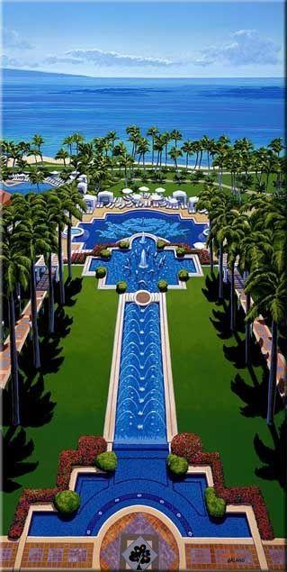 My favorite place on Earth.  The Grand Wailea -  a Waldorf Astoria Resort.  Maui County, HI
