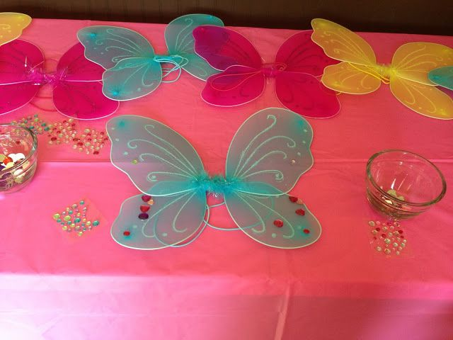 Winx Birthday Party Idea - decorate you own wings