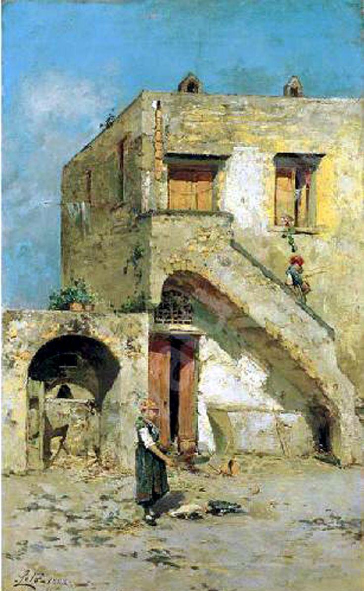 LETO Antonino, Capri, vita Nel cortile,