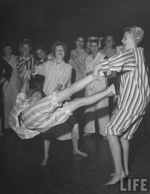 Slumber party shenanigans, 1944  First Activity for Math Conference, girls!!!!!