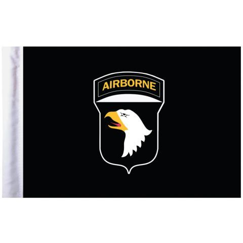 U.S. Army 101st Airborne Pro Pad Motorcycle Flag