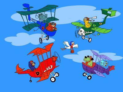 Dastardly e Muttley e le macchine volanti (1969) - Dick Dastardly, il cane Muttley e lo squadrone avvoltoi (il timido Zilly e l'inventore Klunk) devono impedire a un piccione viaggiatore (Yankee Doodle)