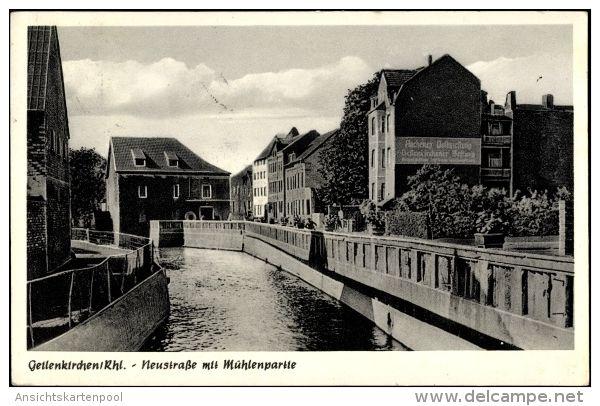 Cp Geilenkirchen in Nordrhein Westfalen, Neustraße mit Mühlenpartie