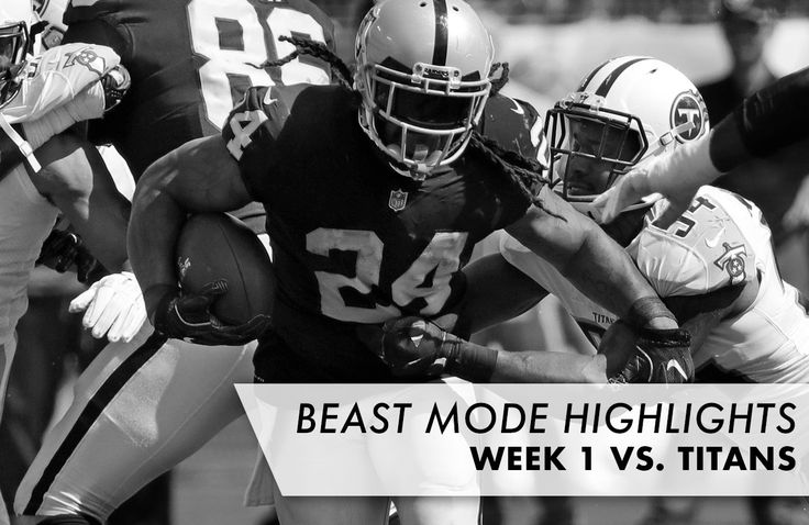 Watch highlights of Oakland Raiders running back Marshawn Lynch versus the Tennessee Titans from Week 1 of the 2017 season.