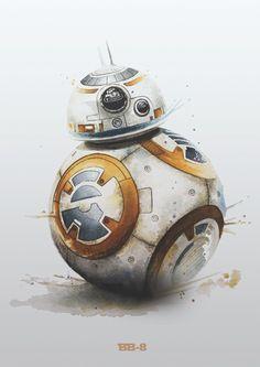 Image of BB-8 Star Wars Poster Print