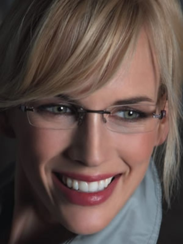 Rimless Glasses Makeup : 107 best images about Glasses & Frames on Pinterest ...