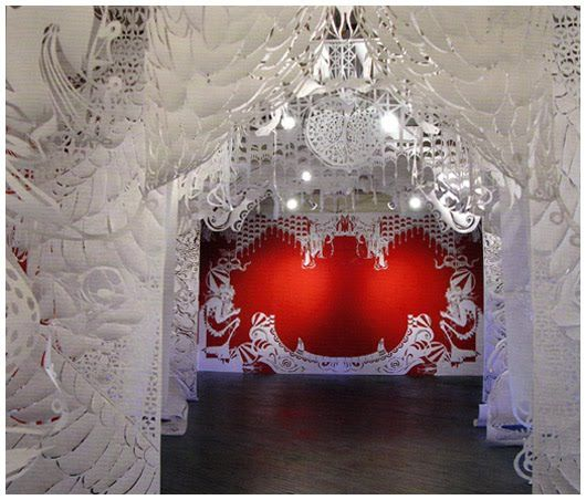 La Boca del Lobo (2006) – paper installation by Brooklyn-based street artist Swoon, in collaboration with Alison Corrie and Polina Soloveichik.