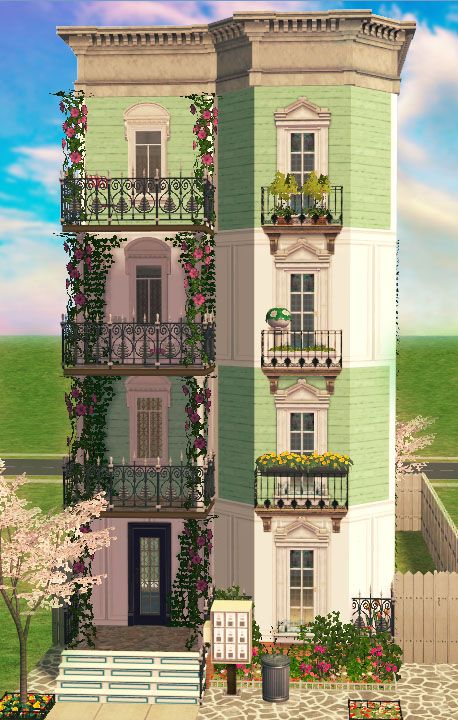 Sims 2 house layout