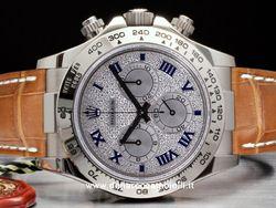 Rolex - Cosmograph Daytona 116519 Cassa: oro bianco - 40 mm Ghiera: oro bianco Vetro: zaffiro Quadrante: pietre preziose - con diamanti Bracciale: alligatore Chiusura: oysterlock Movimento: automatico