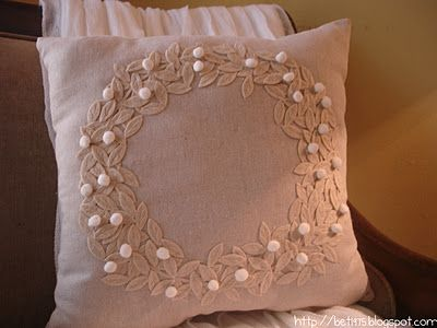 Pottery Barn Pillow -tutorial