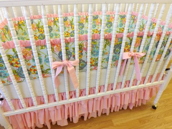 MADE TO ORDER-- Shabby Chic Baby Girl Crib Bedding on Etsy, $369.00